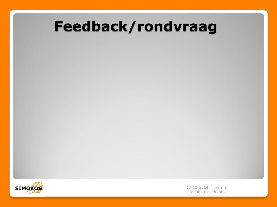 17-12-2014 Trainers bijeenkomst Simokos Feedback/rondvraag