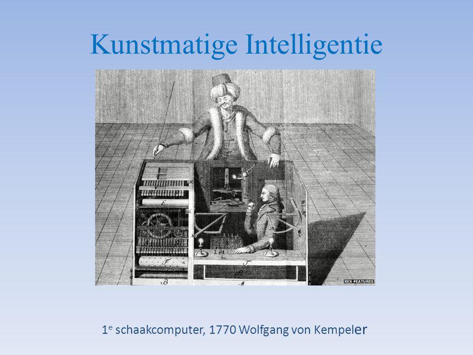 Kunstmatige Intelligentie 1 e schaakcomputer, 1770 Wolfgang von Kempel er