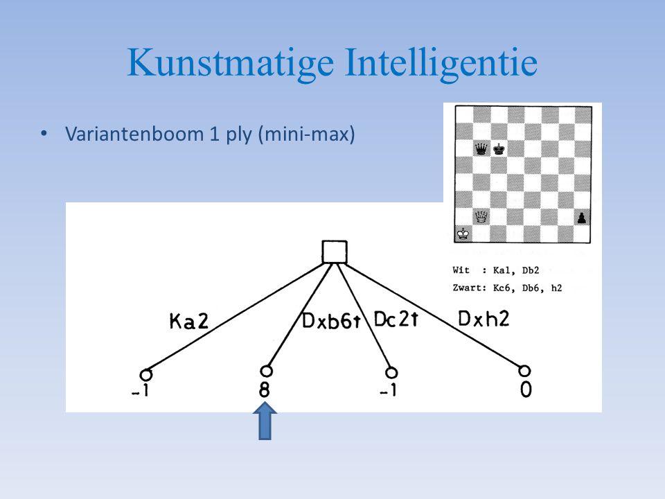 Kunstmatige Intelligentie Variantenboom 1 ply (mini-max)