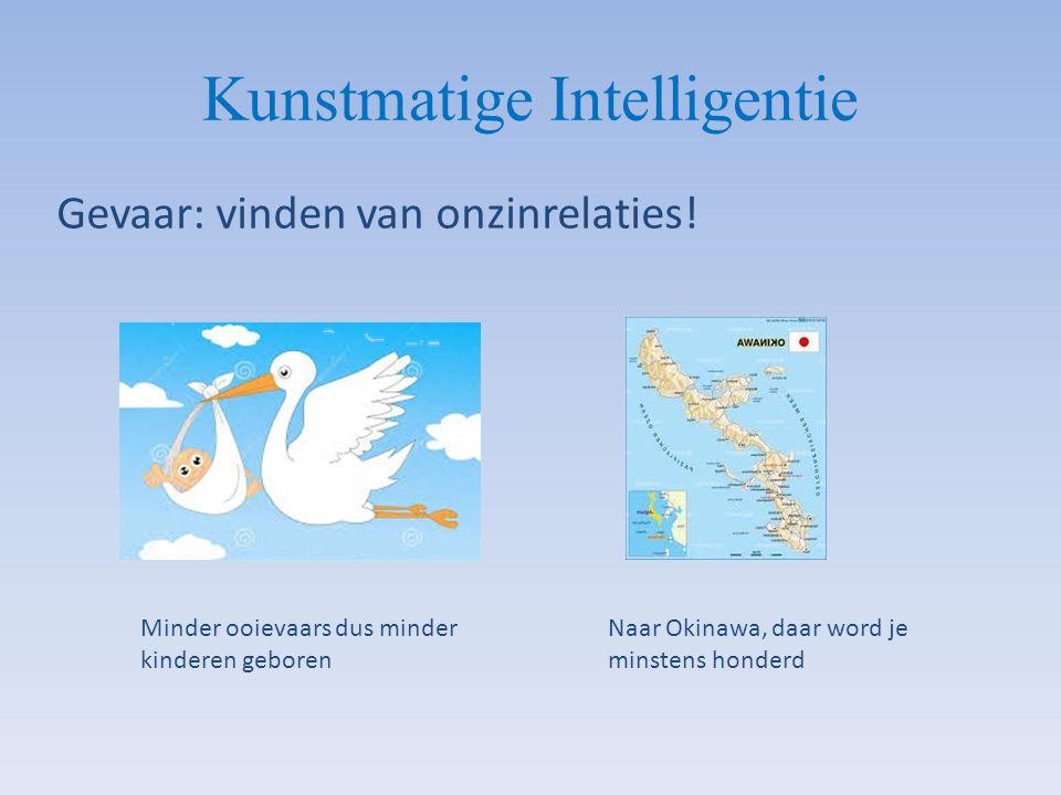 Kunstmatige Intelligentie Gevaar: vinden van onzinrelaties! Naar Okinawa, daar word je minstens honderd Minder ooievaars dus minder kinderen geboren