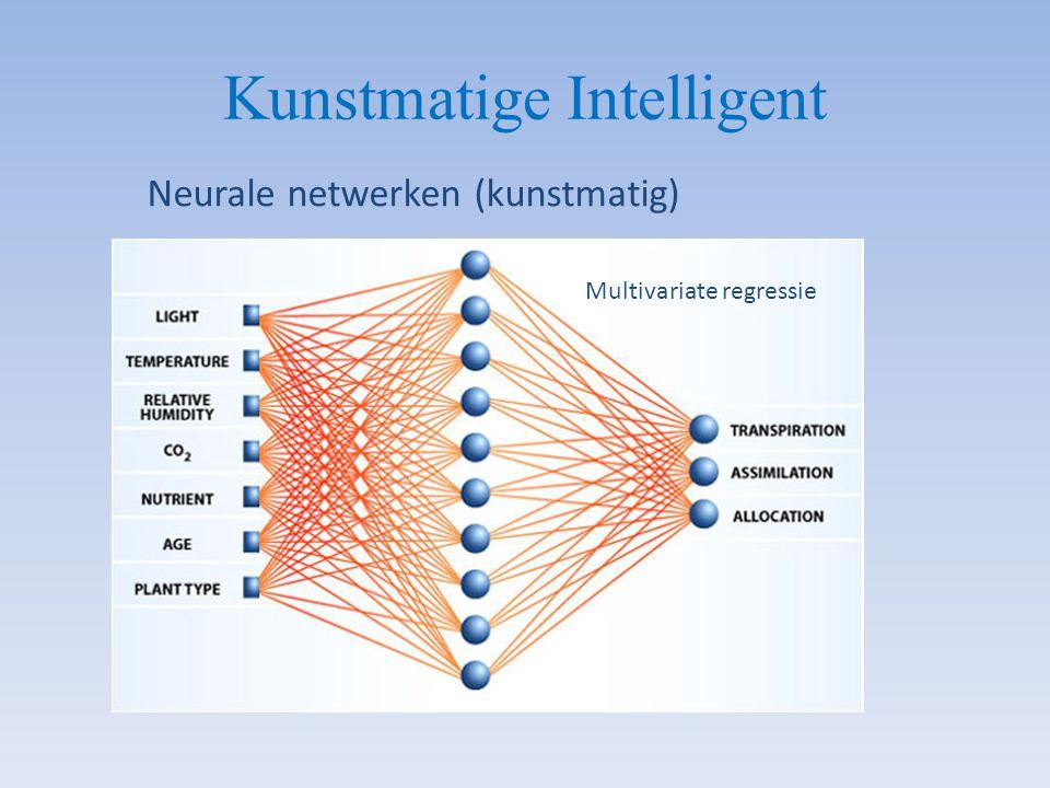 Kunstmatige Intelligent Neurale netwerken (kunstmatig) Multivariate regressie