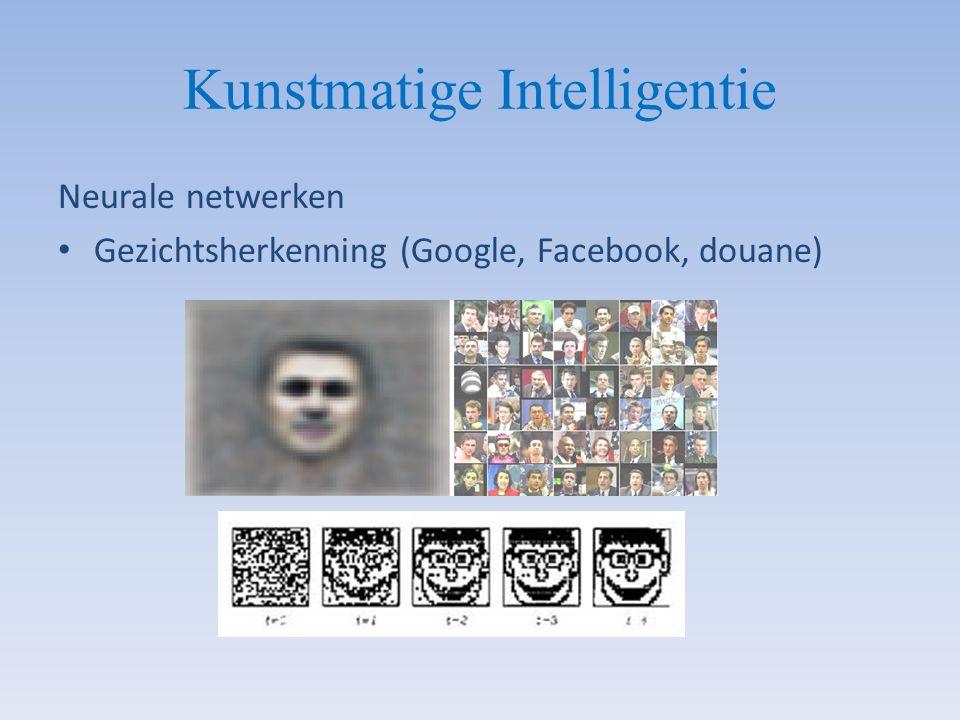 Kunstmatige Intelligentie Neurale netwerken Gezichtsherkenning (Google, Facebook, douane)