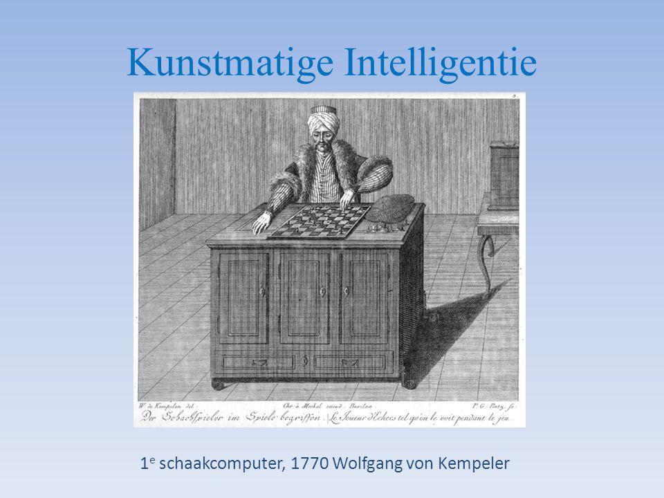 Kunstmatige Intelligentie 1 e schaakcomputer, 1770 Wolfgang von Kempeler
