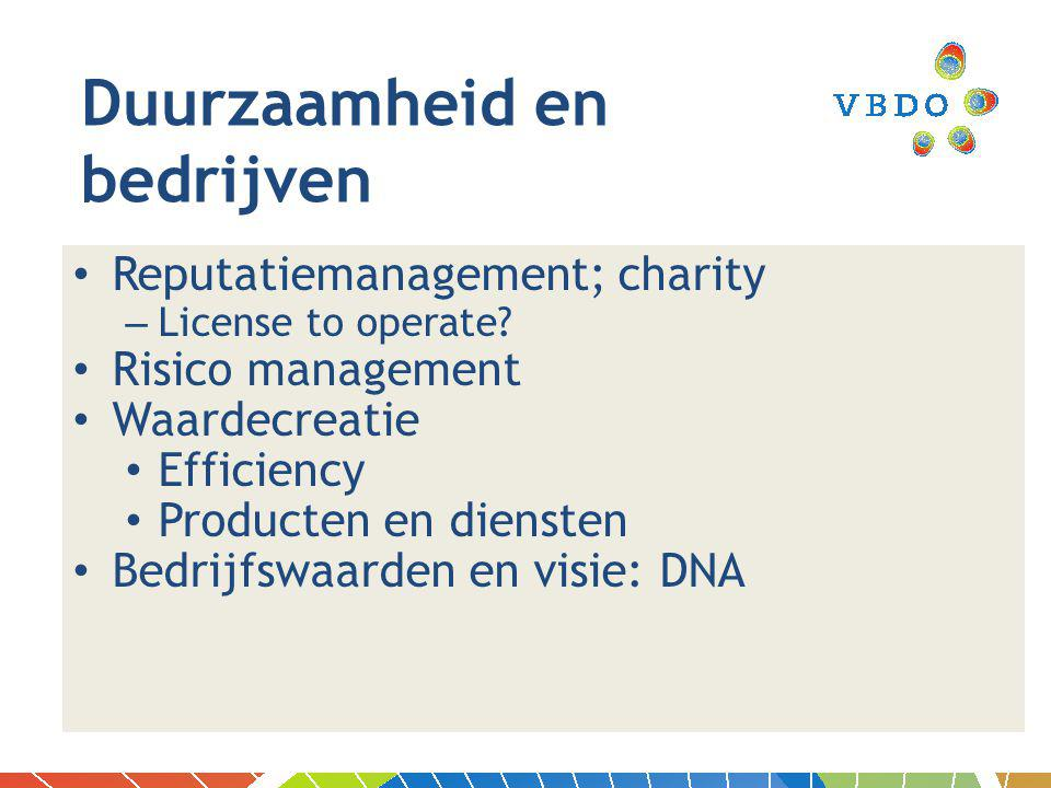 Reputatiemanagement; charity – License to operate.