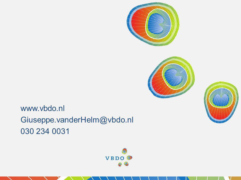 Giuseppe.vanderHelm@vbdo.nl 030 234 0031