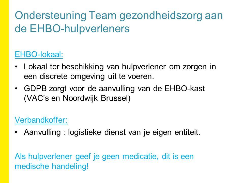 EHBO-lokaal: Lokaal ter beschikking van hulpverlener om zorgen in een discrete omgeving uit te voeren.