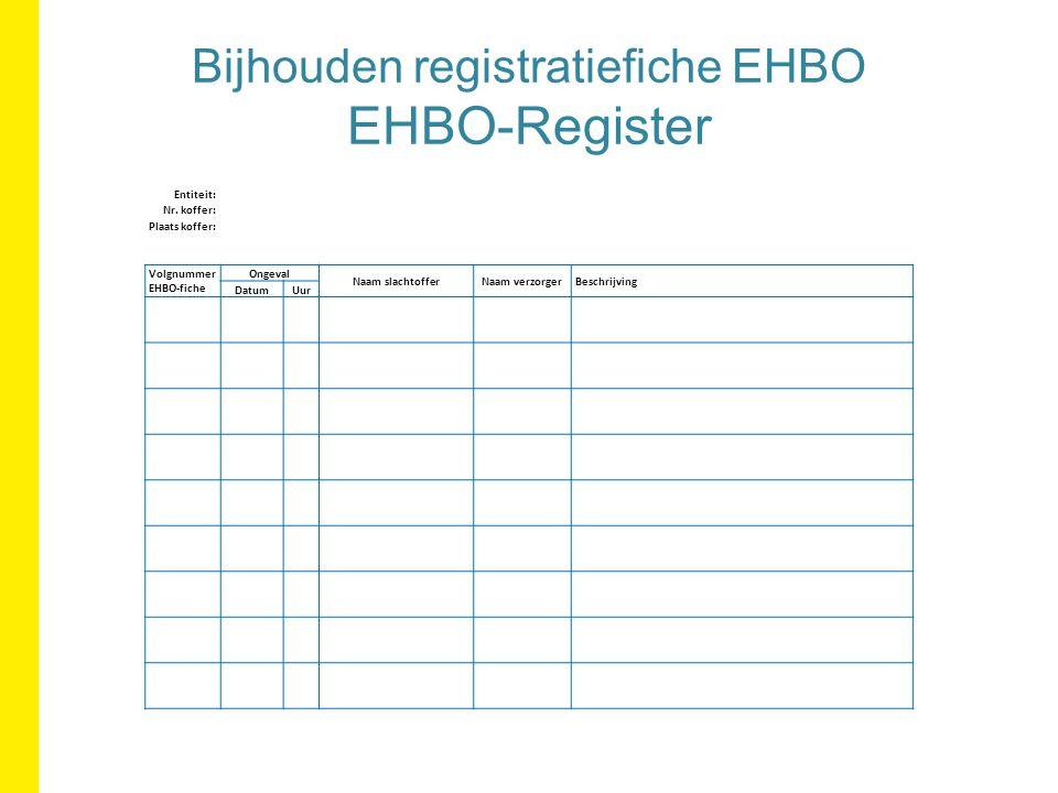 Bijhouden registratiefiche EHBO EHBO-Register Entiteit: Nr.