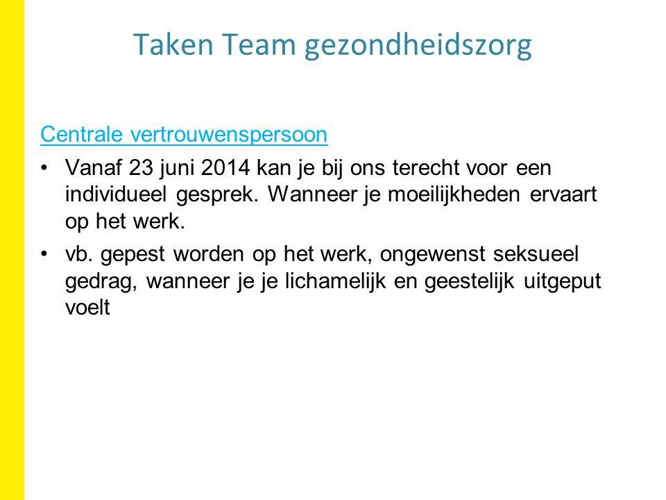 Centrale vertrouwenspersoon Vanaf 23 juni 2014 kan je bij ons terecht voor een individueel gesprek.