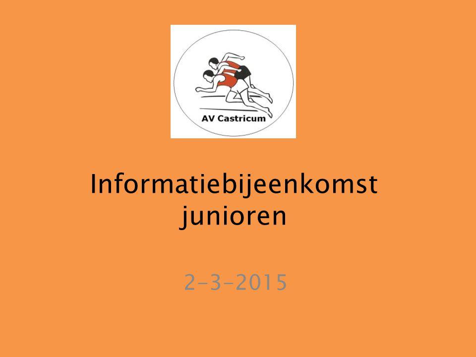 Informatiebijeenkomst junioren 2-3-2015