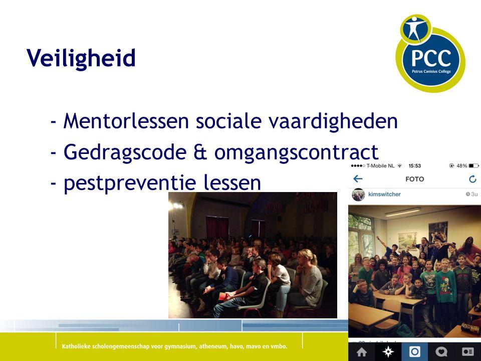 Veiligheid - Mentorlessen sociale vaardigheden - Gedragscode & omgangscontract - pestpreventie lessen