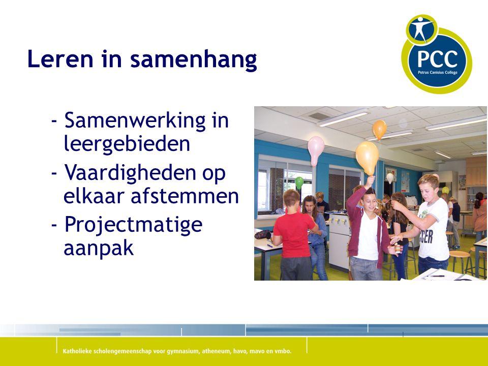 Leren in samenhang - Samenwerking in leergebieden - Vaardigheden op elkaar afstemmen - Projectmatige aanpak