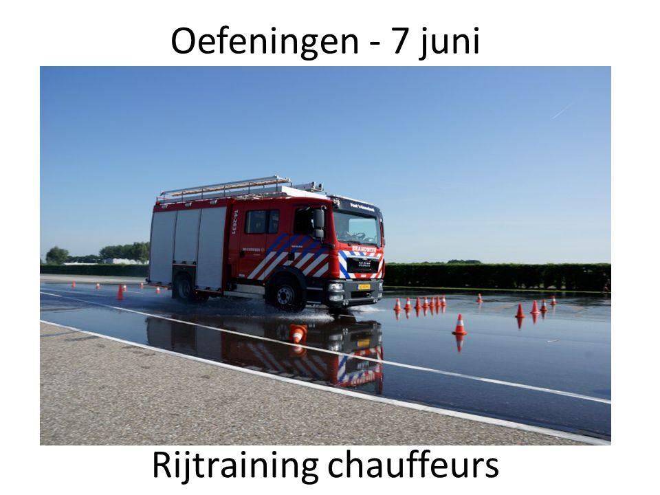 Oefeningen - 7 juni Rijtraining chauffeurs