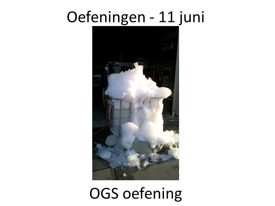 Oefeningen - 11 juni OGS oefening