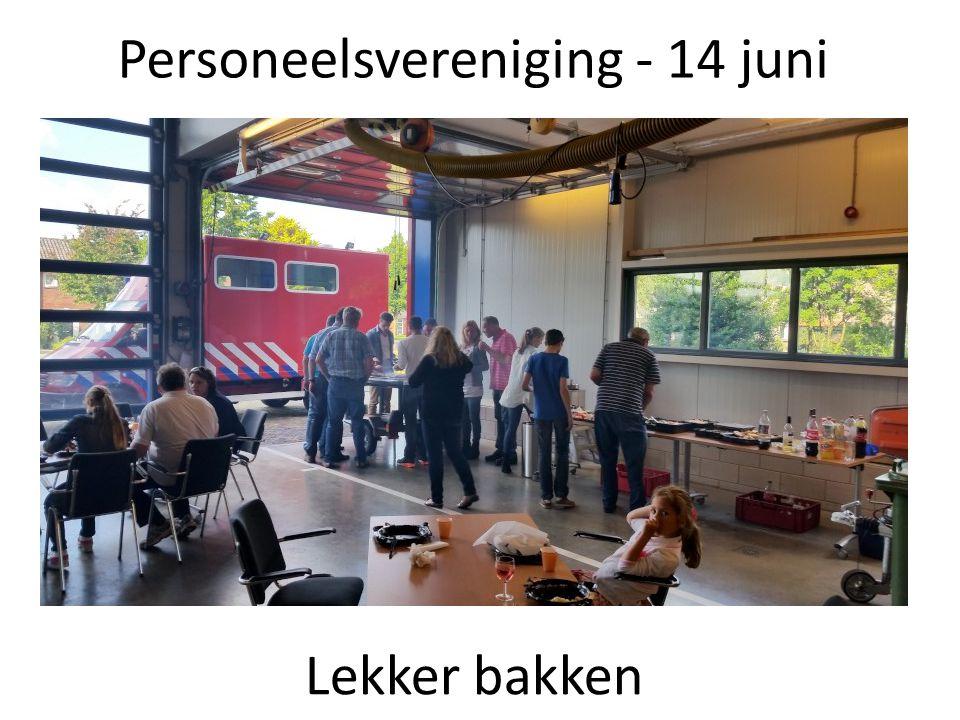Personeelsvereniging - 14 juni Lekker bakken