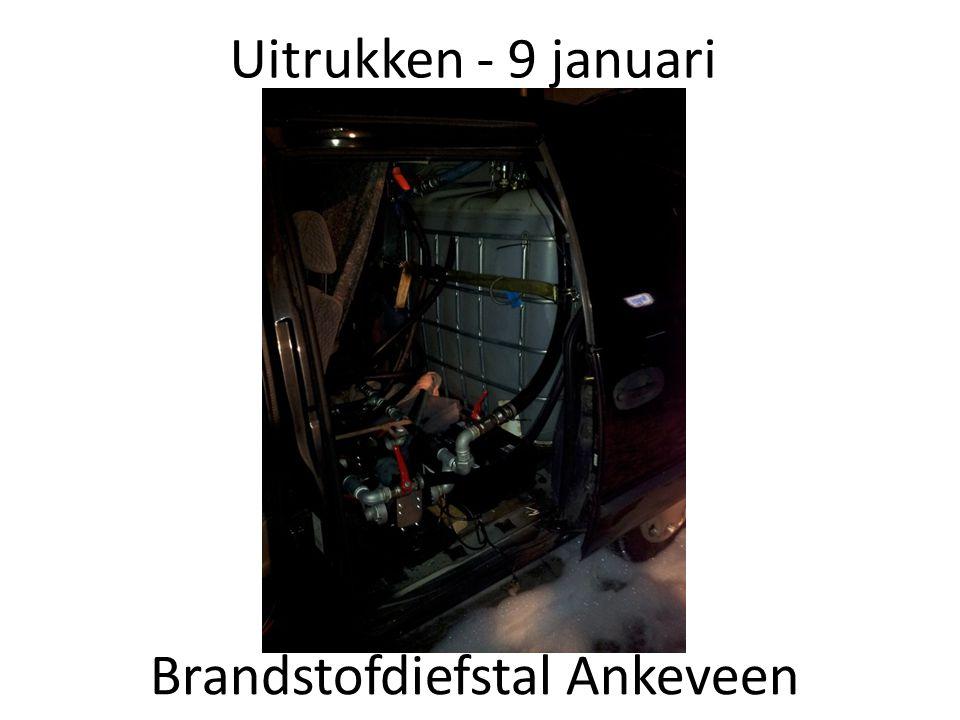 Uitrukken - 9 januari Brandstofdiefstal Ankeveen