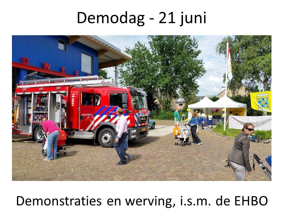 Demodag - 21 juni Demonstraties en werving, i.s.m. de EHBO