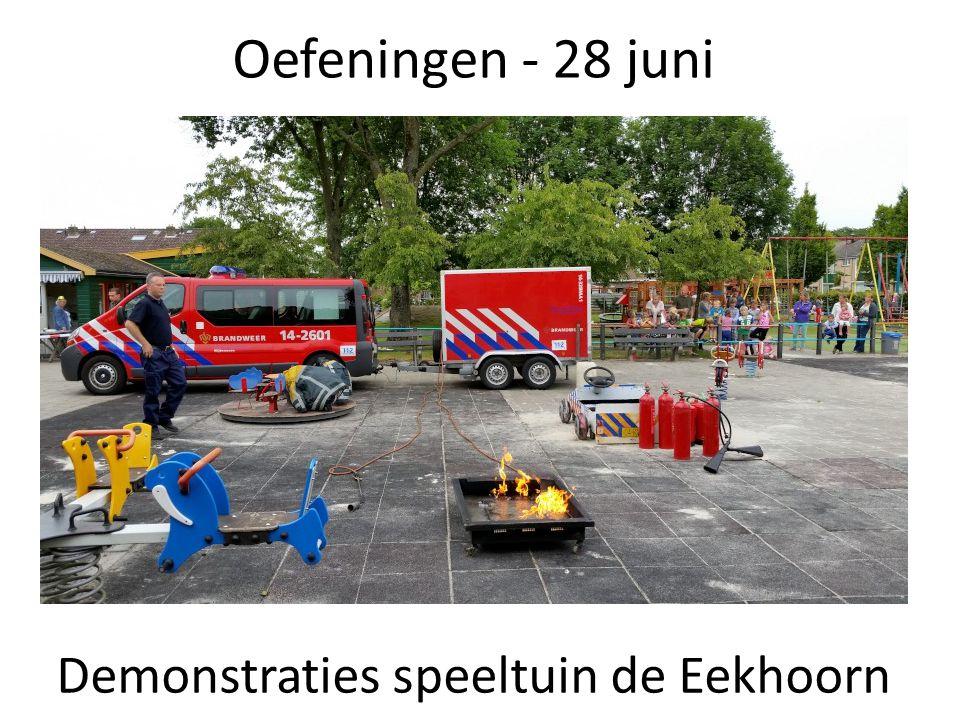 Oefeningen - 28 juni Demonstraties speeltuin de Eekhoorn