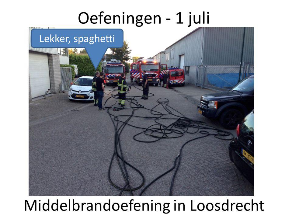 Oefeningen - 1 juli Middelbrandoefening in Loosdrecht Lekker, spaghetti