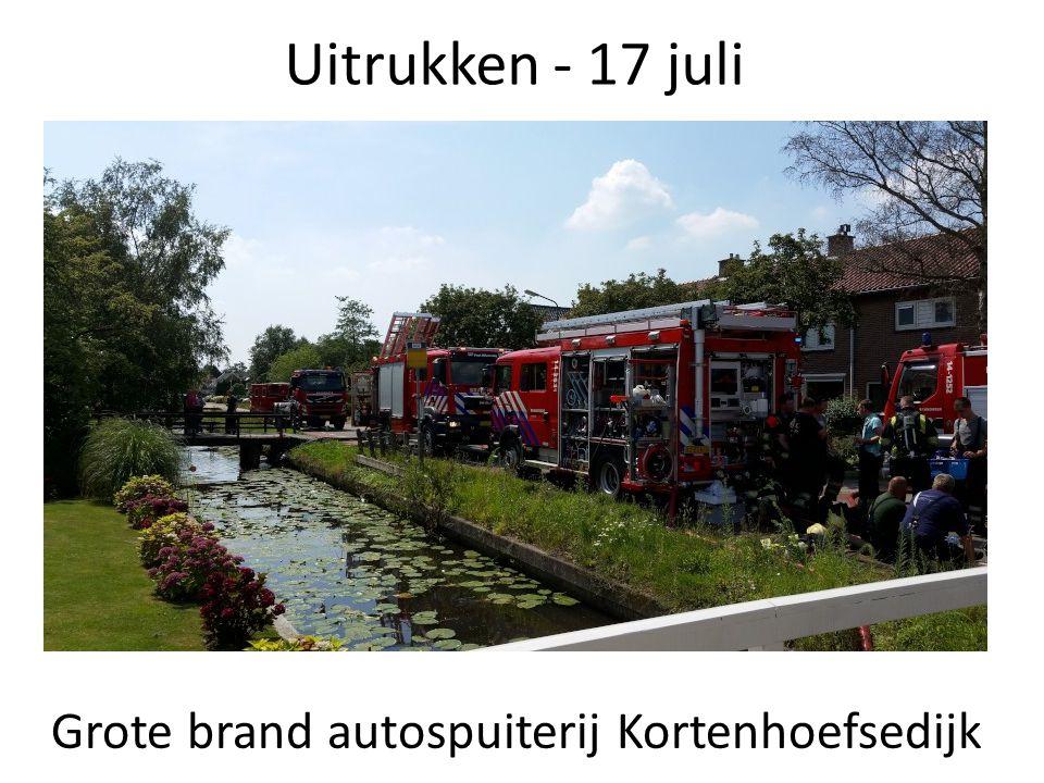 Uitrukken - 17 juli Grote brand autospuiterij Kortenhoefsedijk
