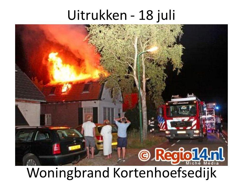 Uitrukken - 18 juli Woningbrand Kortenhoefsedijk