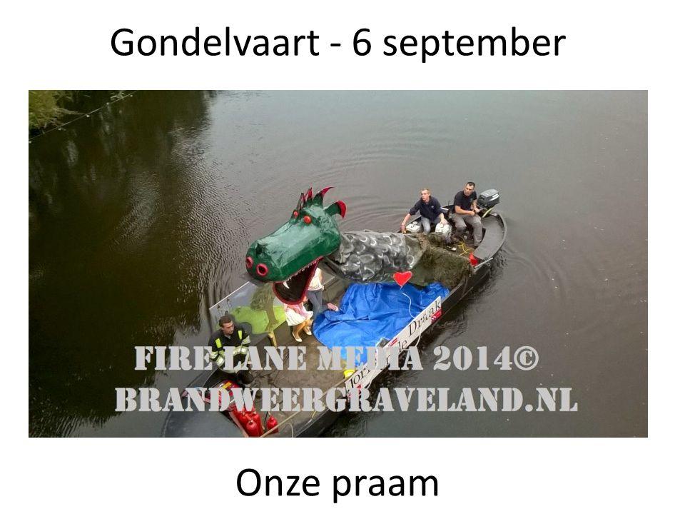 Gondelvaart - 6 september Onze praam