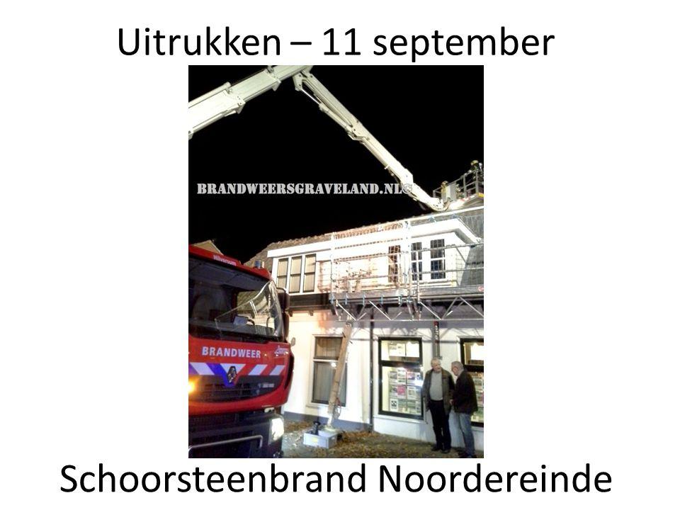 Uitrukken – 11 september Schoorsteenbrand Noordereinde