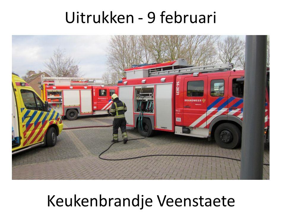 Uitrukken - 9 februari Keukenbrandje Veenstaete