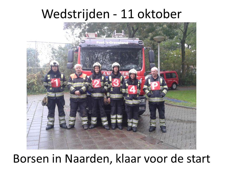 Wedstrijden - 11 oktober Borsen in Naarden, klaar voor de start