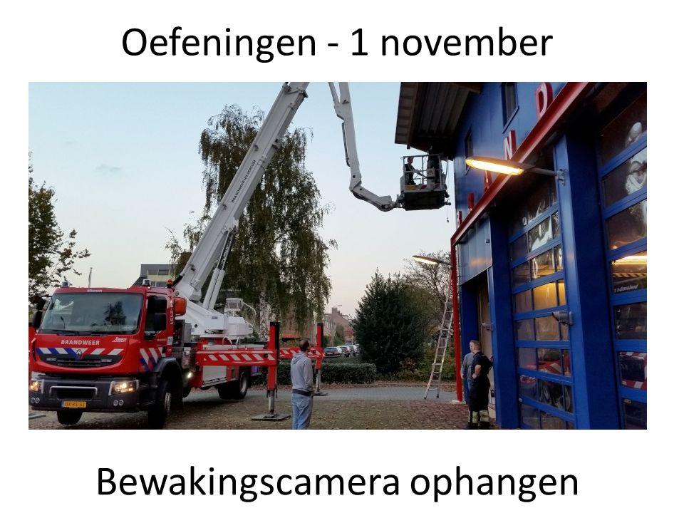 Oefeningen - 1 november Bewakingscamera ophangen