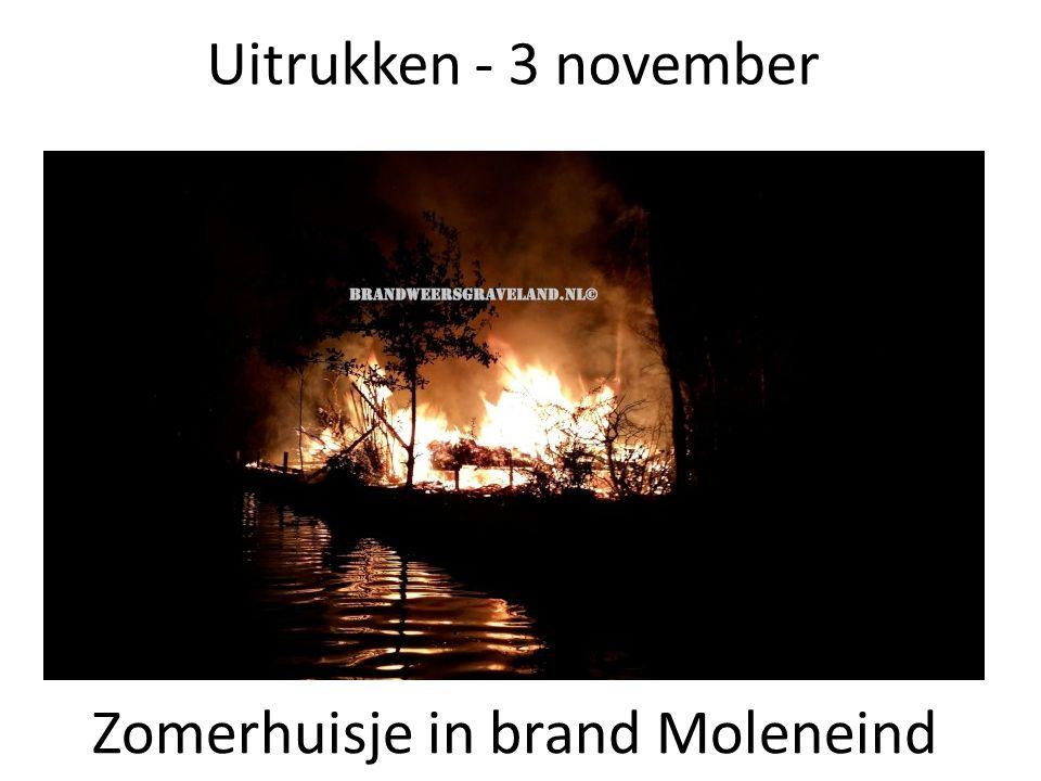 Uitrukken - 3 november Zomerhuisje in brand Moleneind