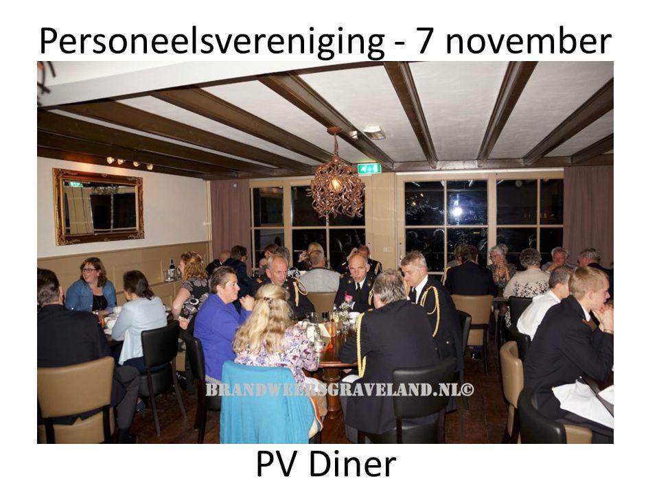 Personeelsvereniging - 7 november PV Diner
