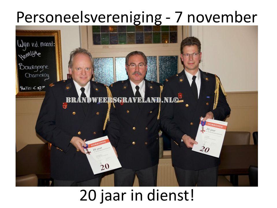 Personeelsvereniging - 7 november 20 jaar in dienst!