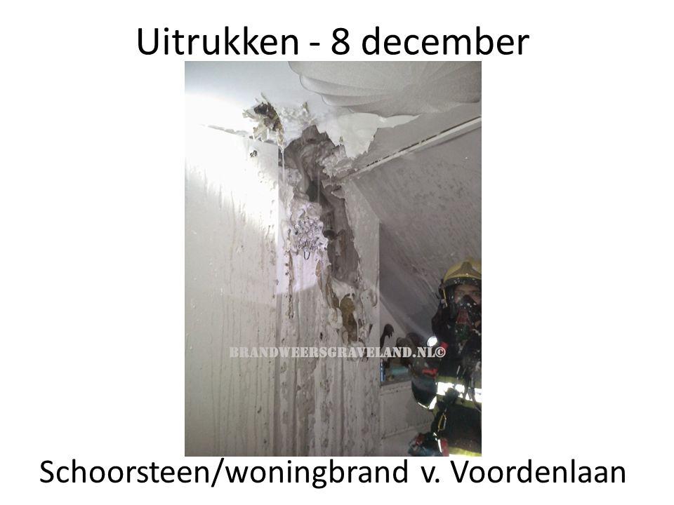 Uitrukken - 8 december Schoorsteen/woningbrand v. Voordenlaan