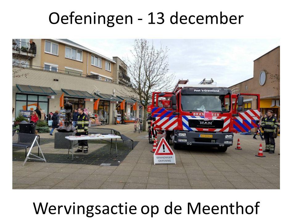 Oefeningen - 13 december Wervingsactie op de Meenthof