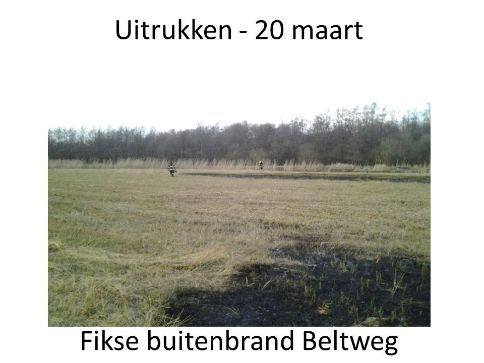 Uitrukken - 27 april Schoorsteenbrand Leeuwenlaan