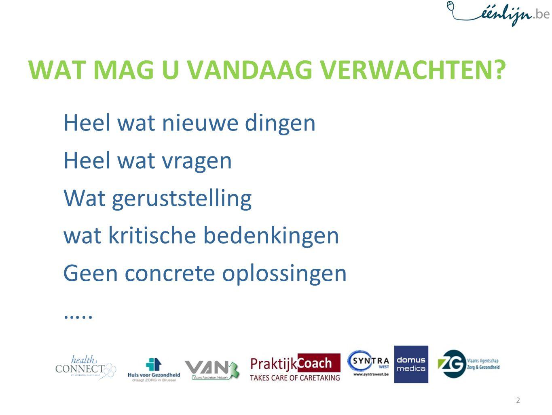 Actuele en volledige etalage-informatie over de welzijns- en gezondheidssector in Vlaanderen en Brussel.