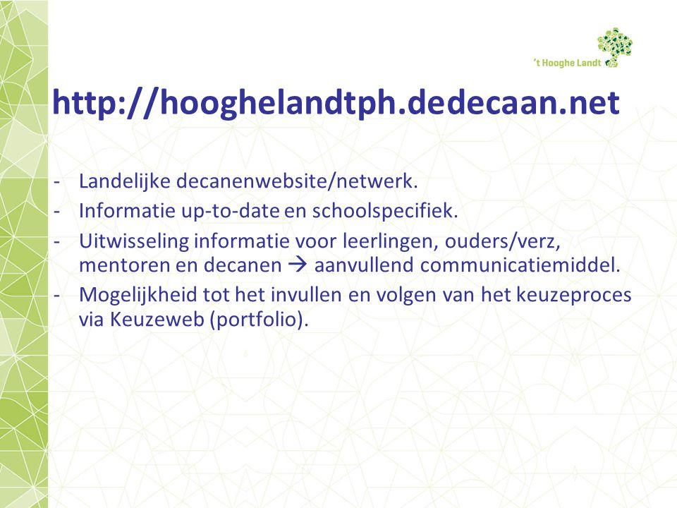 http://hooghelandtph.dedecaan.net -Landelijke decanenwebsite/netwerk.