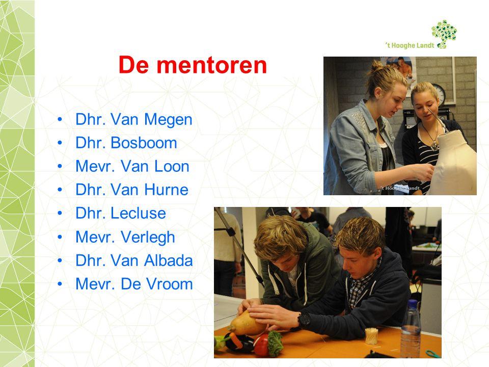 De mentoren Dhr. Van Megen Dhr. Bosboom Mevr. Van Loon Dhr.