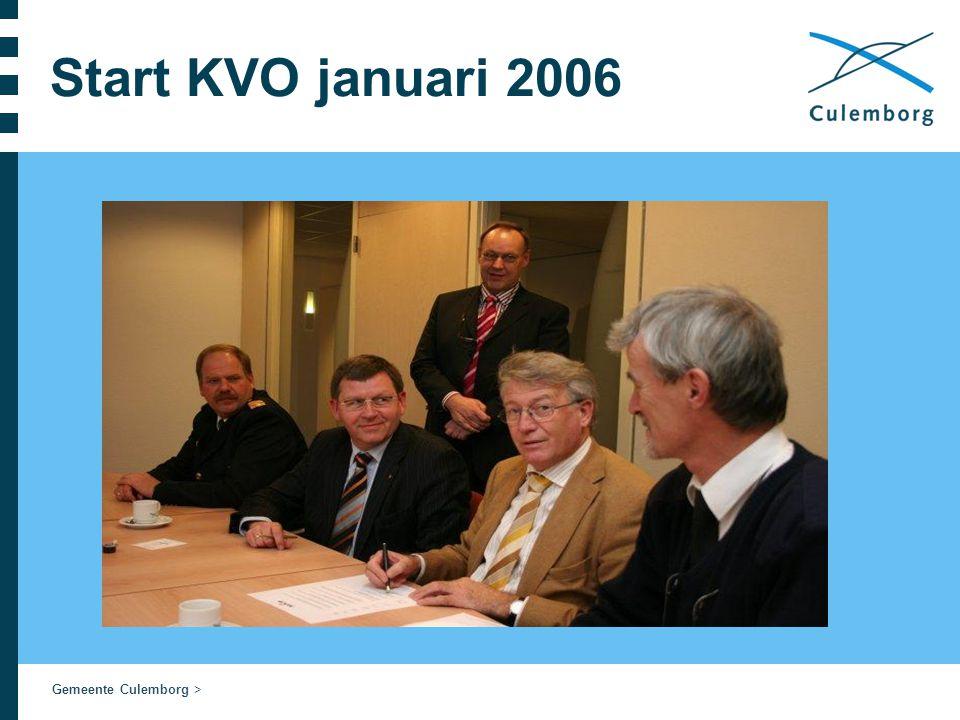 Gemeente Culemborg > Start KVO januari 2006