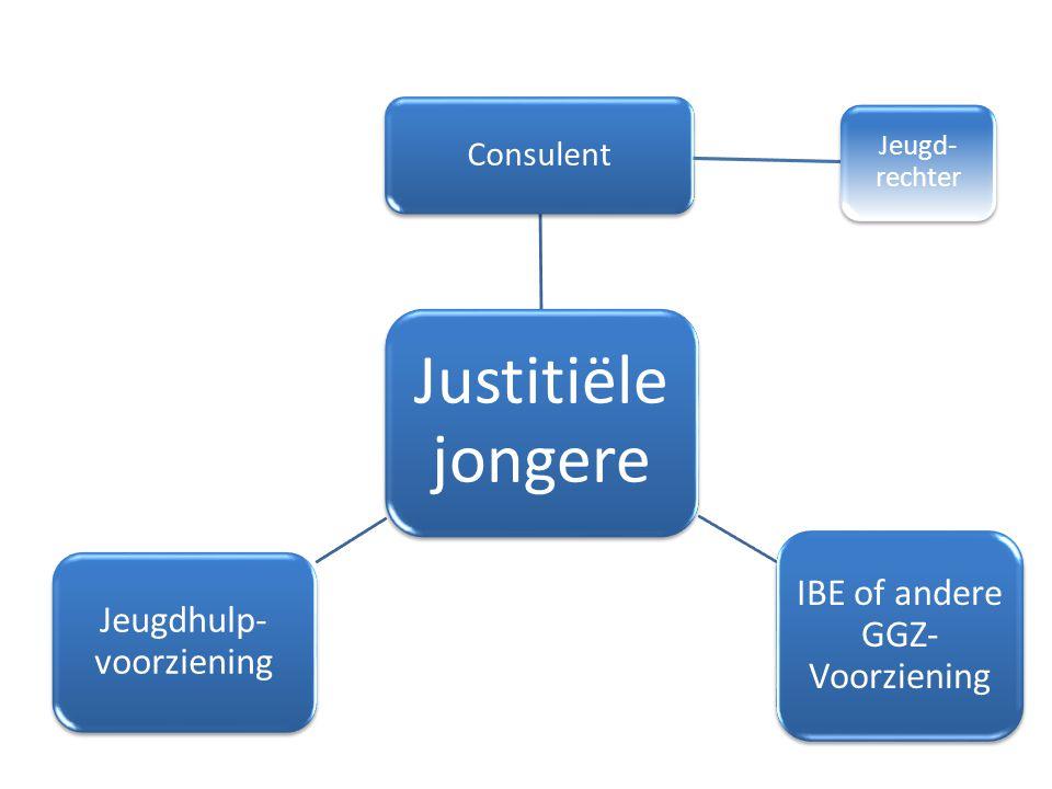 Justitiële jongere Consulent Jeugd- rechter IBE of andere GGZ- Voorziening Jeugdhulp- voorziening