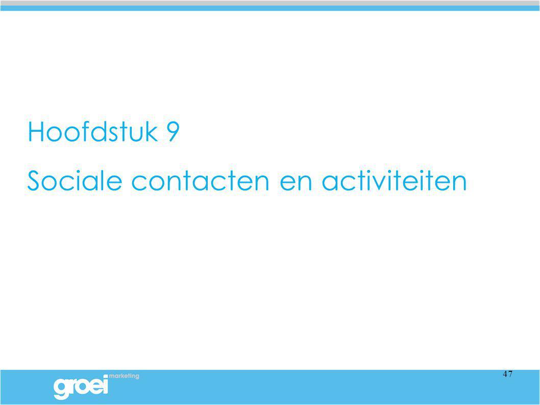 Hoofdstuk 9 Sociale contacten en activiteiten 47