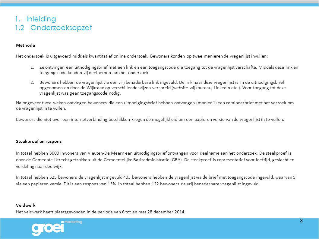 3 Voorzieningen in het algemeen 3.2 Gebruik voorzieningen Primaire voorzieningen zoals winkels, onderwijs en gezondheidsvoorzieningen worden met name in de wijken Vleuten-De Meern en/of Leidsche Rijn gebruikt.