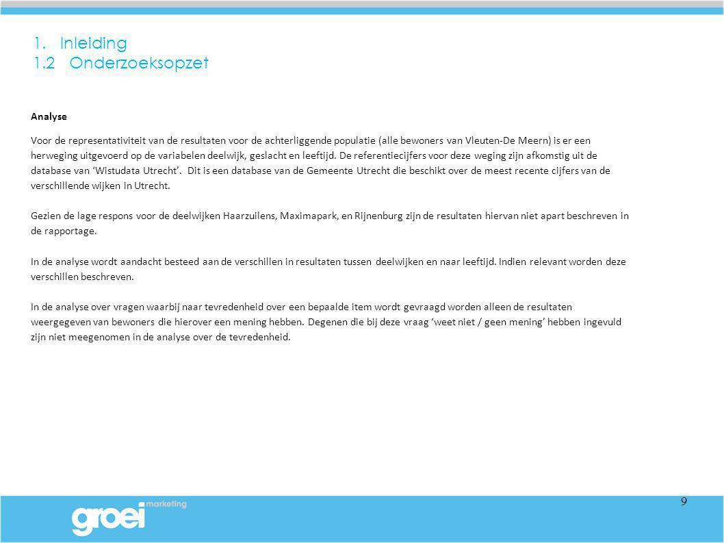 In deze rapportage worden de resultaten van de wijkraadpleging van Vleuten-De Meern beschreven.