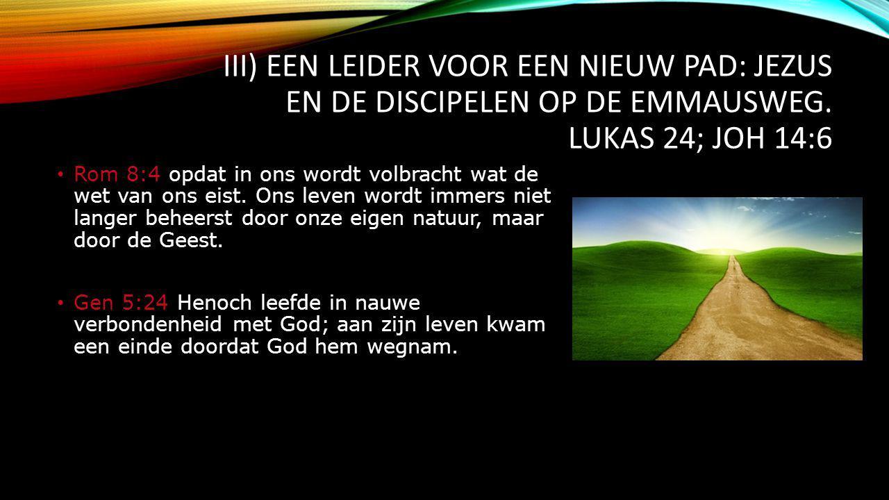 III) EEN LEIDER VOOR EEN NIEUW PAD: JEZUS EN DE DISCIPELEN OP DE EMMAUSWEG.