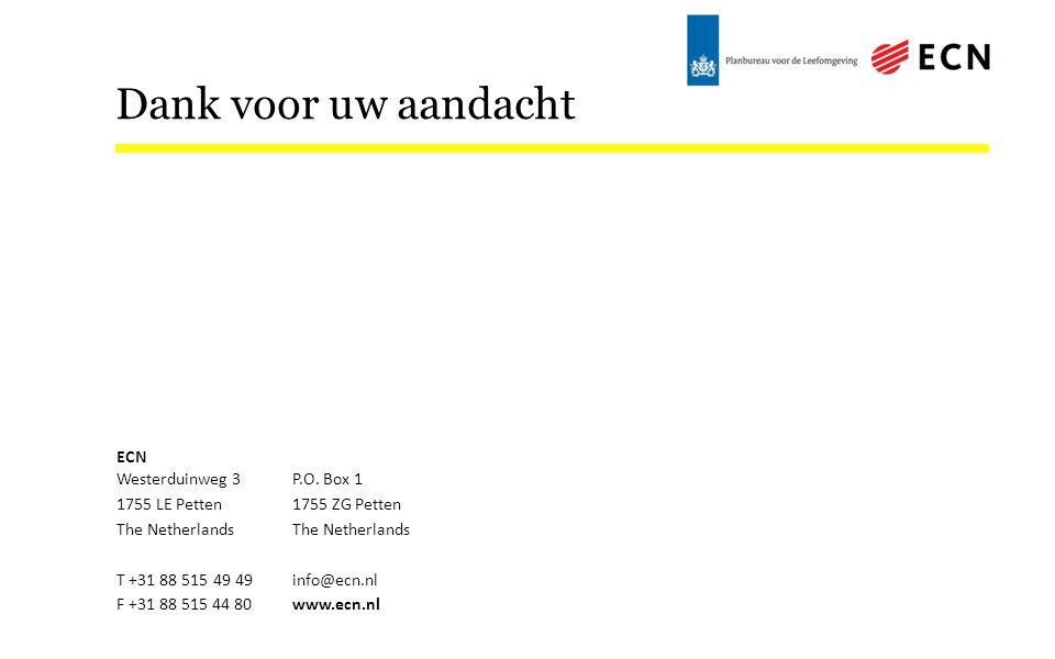 Dank voor uw aandacht ECN Westerduinweg 3P.O.