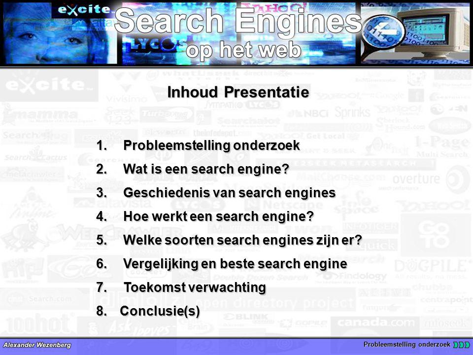 Inhoud Presentatie 1. Probleemstelling onderzoek 2.