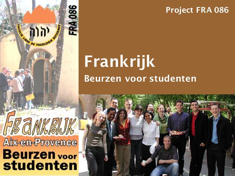 Frankrijk Beurzen voor studenten Project FRA 086