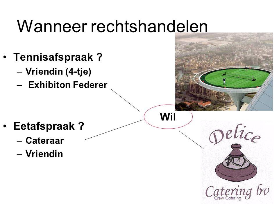 Wanneer rechtshandelen Tennisafspraak .–Vriendin (4-tje) – Exhibiton Federer Eetafspraak .
