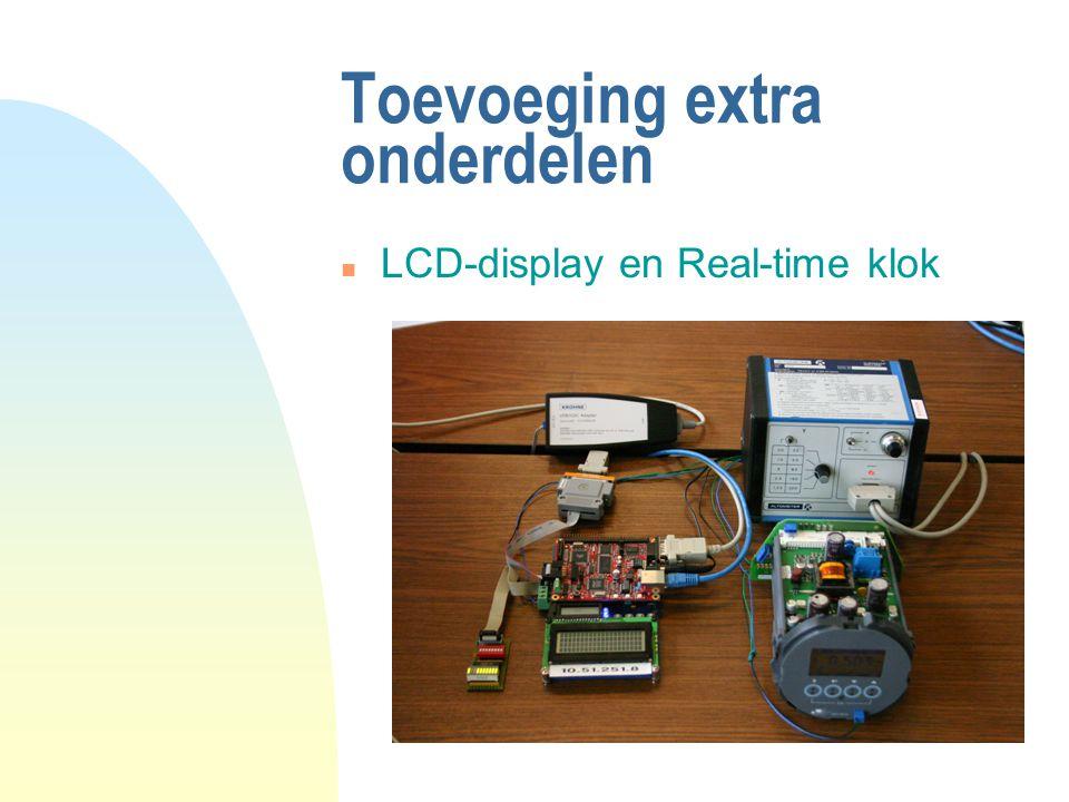 Toevoeging extra onderdelen n LCD-display en Real-time klok
