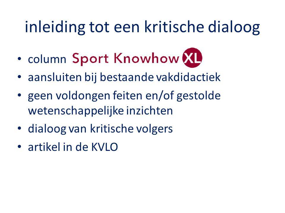 focus van de dialoog vakdidactisch gebruik van nieuwe technologieën in bewegingsonderwijs en sport op basis van: Content Knowledge (CK) de centrale feiten, concepten, theorieën en procedures van een bepaald vakgebied, maar ook kennis van de manier waarop het vakgebied zich uitbreidt.